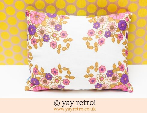 0: Vintage Fabric Pink Flower Cushion (£12.00)