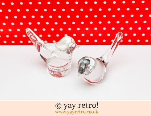 0: Pair of Glass Bird Ornaments (£12.50)