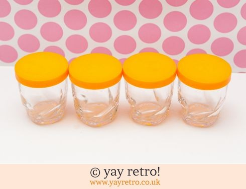 99: 4 Orange Glasses Drink / Storage (£4.50)