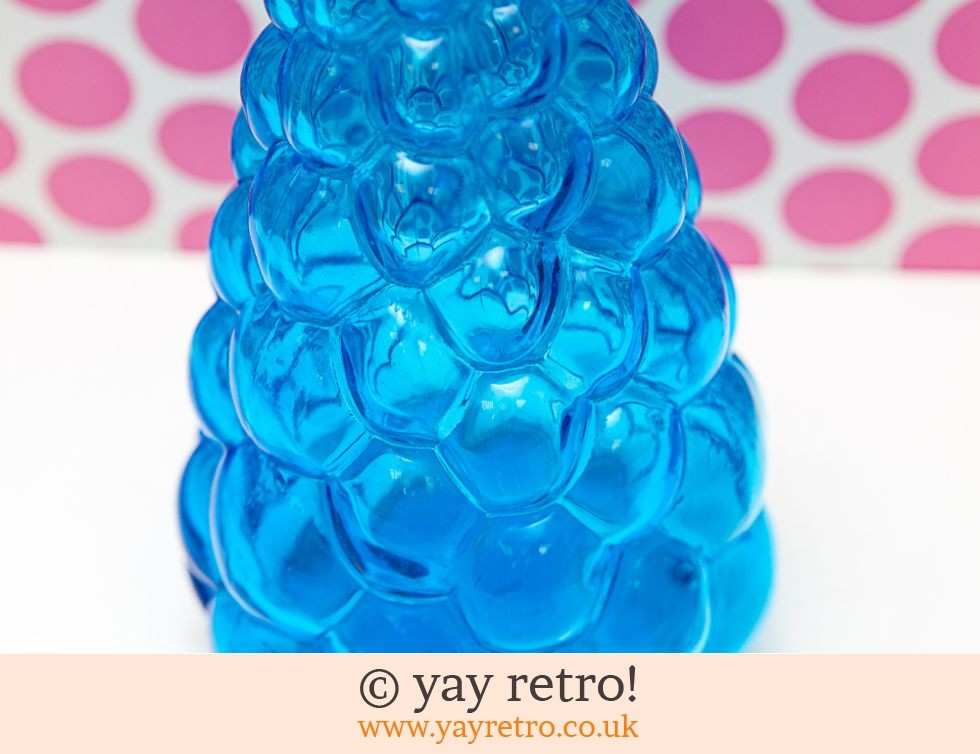 Italian Glass Bobble Vase / Decanter Blue (£16.00)