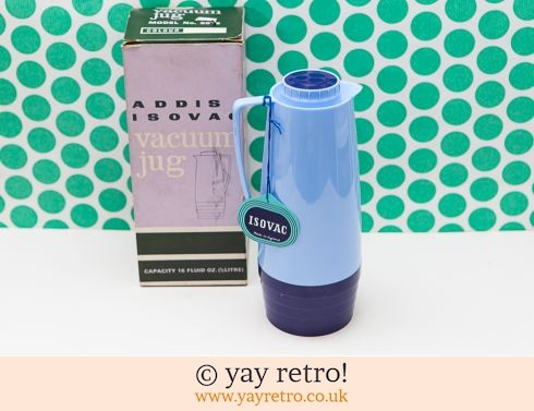 19: Vintage Sky Blue Vacuum Jug Thermos Flask Boxed (£18.95)