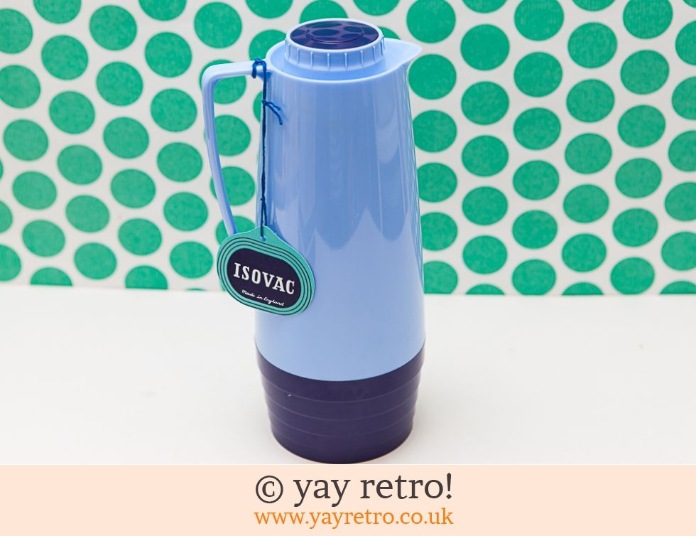 Vintage Sky Blue Vacuum Jug Thermos Flask Boxed (£18.95)