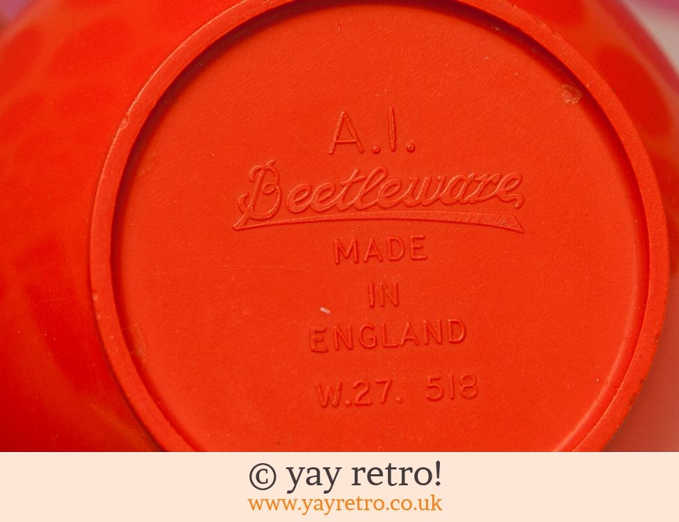 Beetleware Orange Butter Pot - Ultra Rare (£14.95)