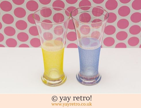259: 1950s Tall Frosted Glasses (£6.00)