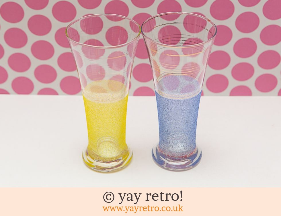 Hygene: 1950s Tall Frosted Glasses (£6.00)