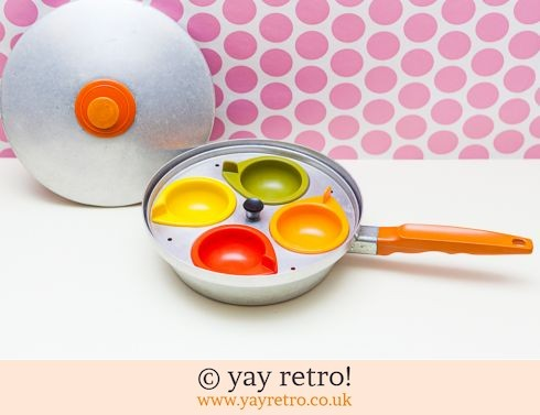 0: Brightly Coloured Vintage Egg Poacher (£24.00)