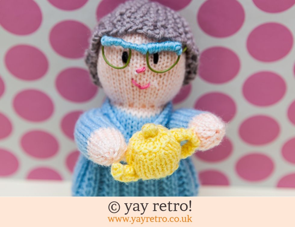 Granny Smith Hand Knitted Doll with Teapot (£12.95)