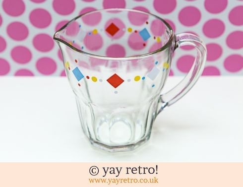 31: Fun 1950s Glass Pitcher jug (£13.75)