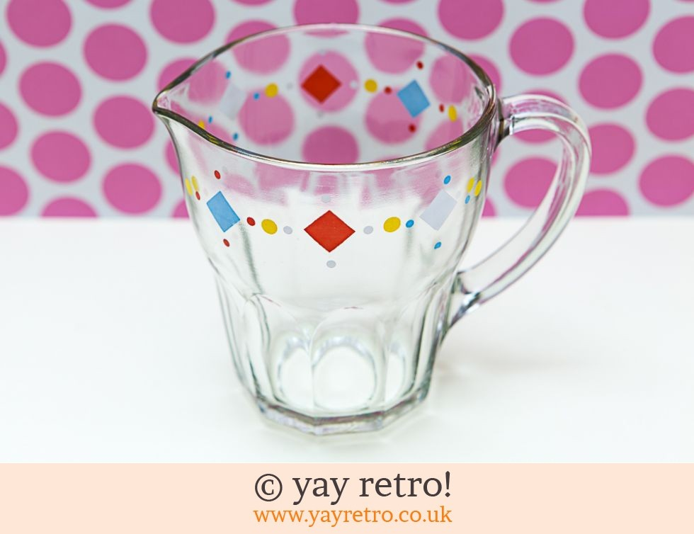 Claymer: Fun 1950s Glass Pitcher jug (£13.75)