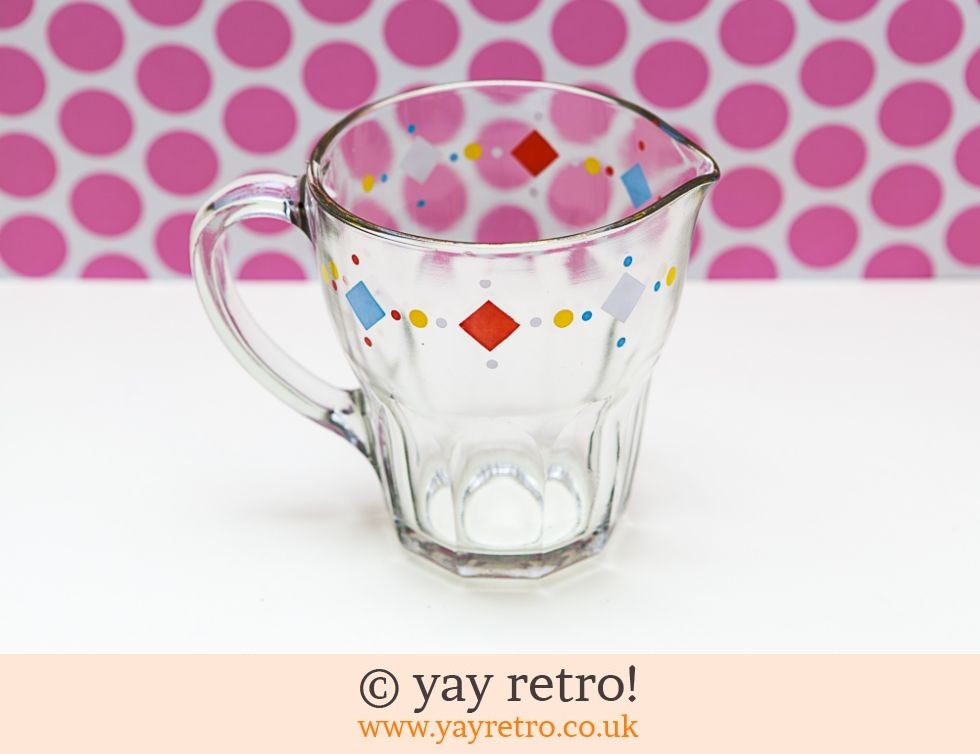 Fun 1950s Glass Pitcher jug (£13.75)