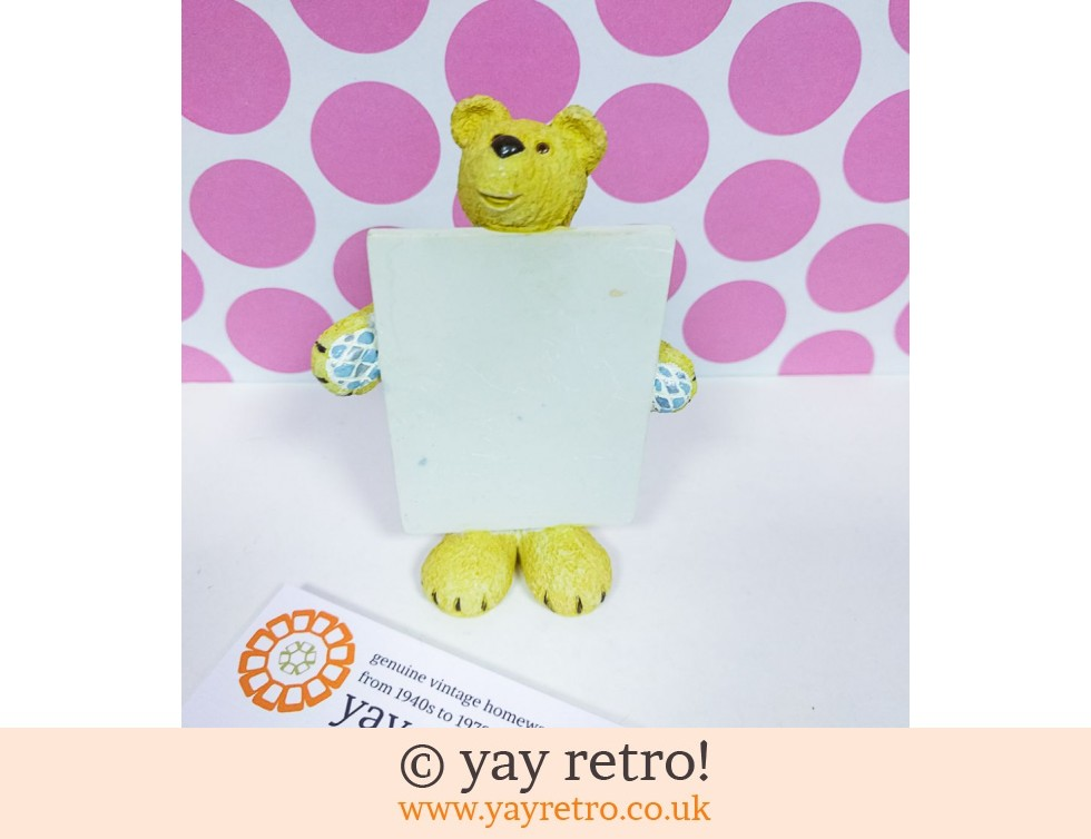 Business Card / Message Holder Teddy Bear (£5.00)