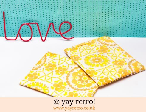 Unused Vintage Yellow Flowery Pillowcases (£12.50)