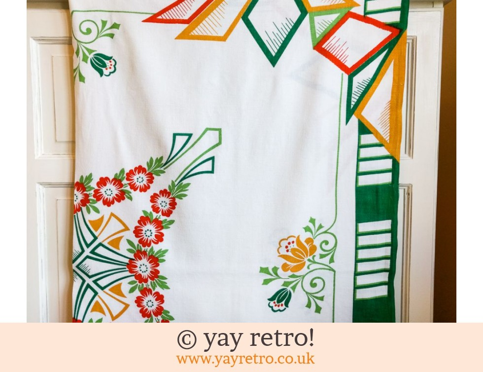1930/40s Art Deco Tablecloth (£15.50)