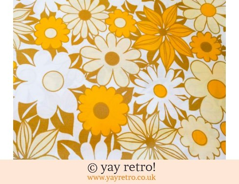 Vintage Yellow Flower Double Sheet (£28.50)