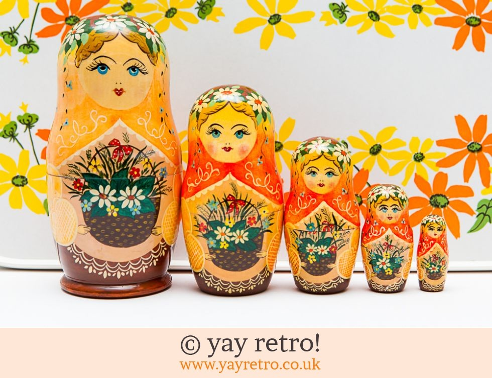 Bright Orange Matrosova Russian Dolls (£12.00)