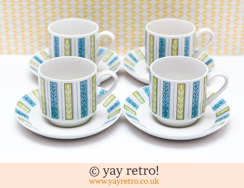 Midwinter: Pretty Midwinter Cups & Saucers (£14.00)