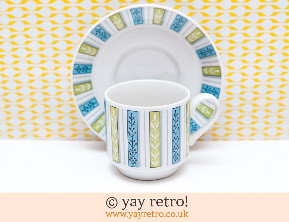 Pretty Midwinter Cups & Saucers (£14.00)