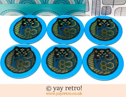 581: Vintage Cat Coasters - Unused (£18.75)