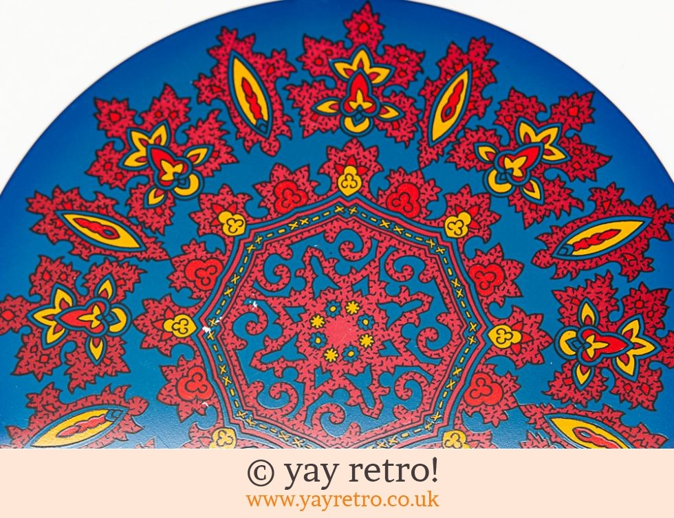 Vintage Metal Psychedelic Table Mats  x6 (£20.00)