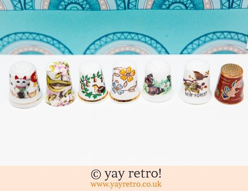 0: 7 Collectable Thimbles Birds and Animals (£2.95)