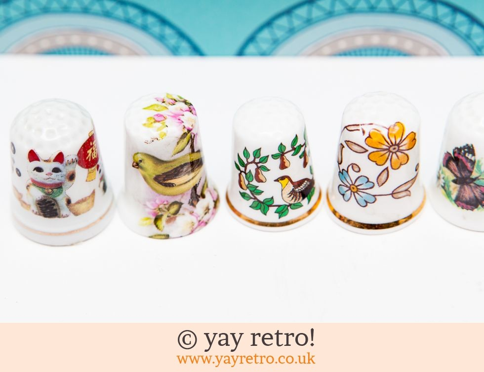 7 Collectable Thimbles Birds and Animals (£2.95)
