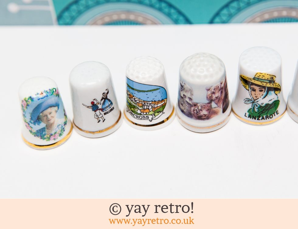 8 Collectable People & Places Thimbles (£2.95)