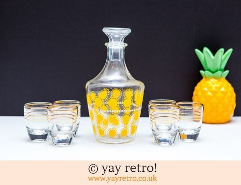 0: Sunny Polka Dot Decanter & Shot Glasses (£20.00)