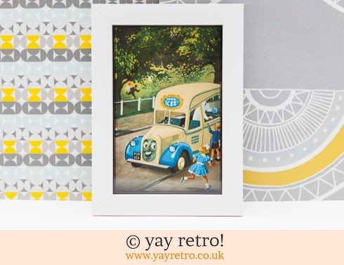 286: Vintage Ice Cream Van 1956 Framed Picture (£9.75)