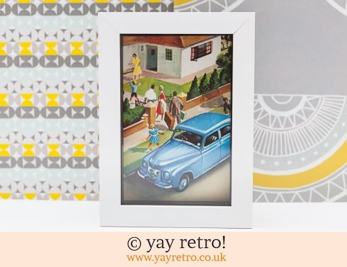 0: Visiting in the Car 1956 Framed Picture (£9.75)