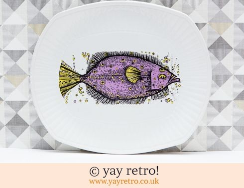 17: Washington Aquarius Purple Fish Plate (£20.00)