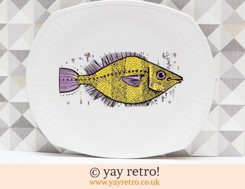0: Yellow Fish Plate Washington Aquarius (£20.00)