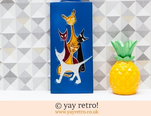 0: Vintage Wall Plaque Cats (£15.00)