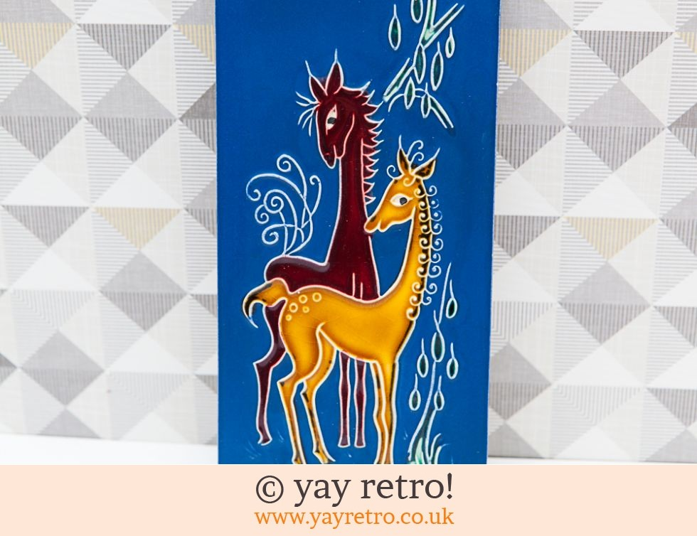 Vintage Wall Plaque Kitsch Horses (£12.95)