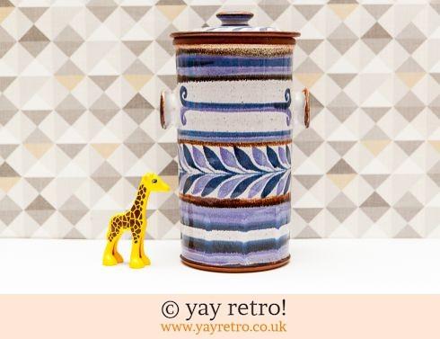 587: Scandi Style Tall Pottery Lidded Storage Jar (£10.00)