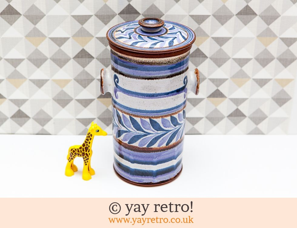 Scandi Style Tall Pottery Lidded Storage Jar (£7.00)