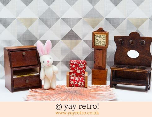 0: Vintage Dolls House Antique Furniture - 1930s style Lounge (£11.50)