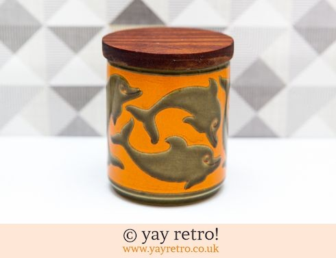 25: Hornsea Dolphin Preserve Jar Orange (£17.50)