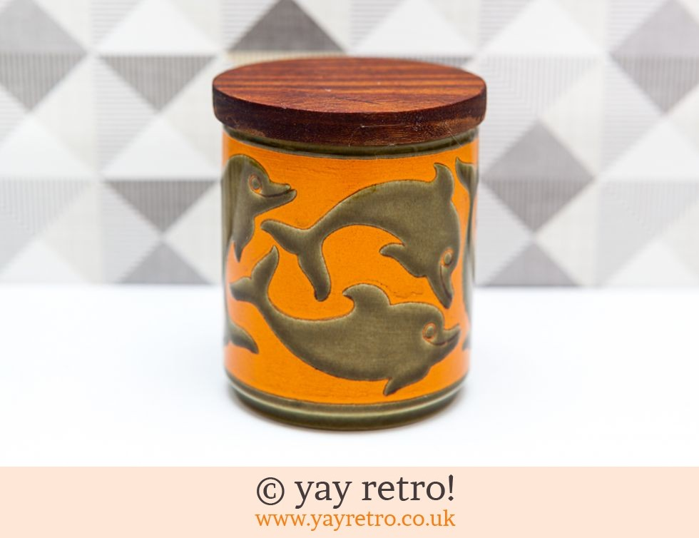 Hornsea Dolphin Preserve Jar Orange (£17.50)