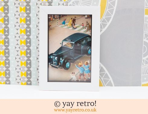 0: Vintage Taxi Cab 1956 Framed Picture (£7.95)
