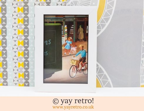 286: Vintage Cycling 1956 Framed Picture (£7.95)