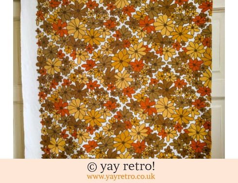 0: Flowery 60s/70s tablecloth (£17.50)