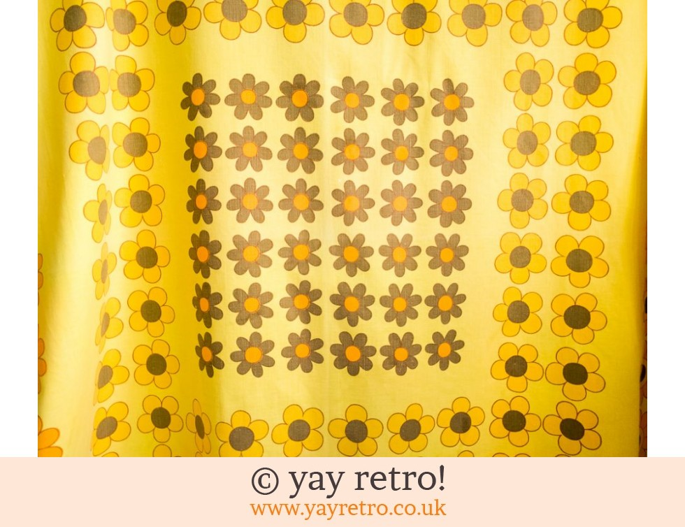 Bright Yellow Daisy Tablecloth 60/70s (£18.50)
