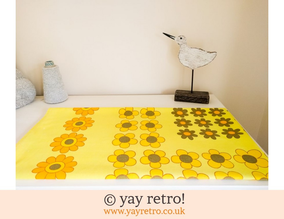Jonelle: Bright Yellow Daisy Tablecloth 60/70s (£18.50)