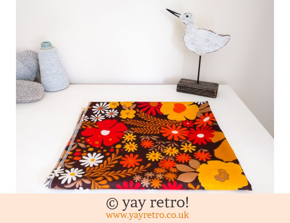Funky Floral Tablecloth / Fabric Panel (£7.50)