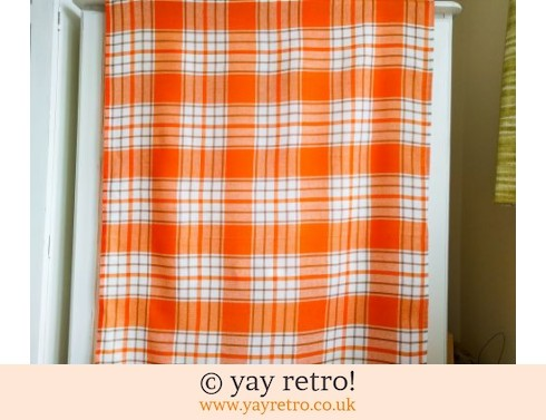 0: Orange Check Tablecloth (£7.50)