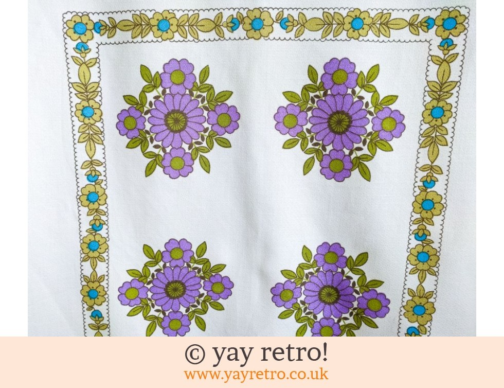 Vintage Purple Flowery Tablecloth (£24.50)