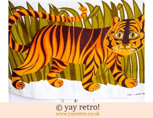 441: Oxfam Orange Tiger Vintage Tea Towel (£26.50)