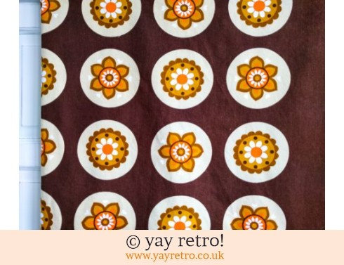 0: Orange Daisy Vintage Tablecloth 60/70s (£18.00)