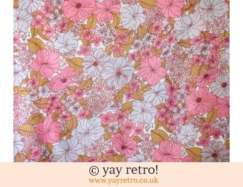 207: Pink Flowery Single Sheet (£20.00)
