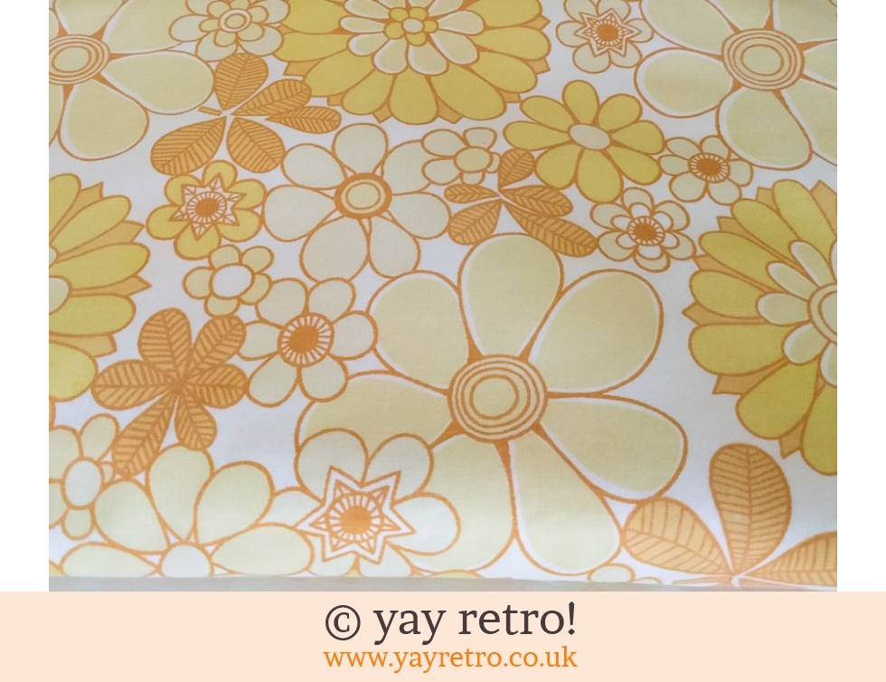 Vintage Yellow Flower Double Duvet (£22.50)